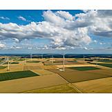 Fields, Cultural landscape, Wind turbines