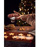 Christmas cookies, Christmas cookies, Powdered sugar