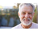 Senior, Gray hair, Portrait, Beard