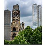 Kaiser wilhelm memorial church, Breitscheidplatz