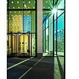 Office building, Revolving door