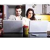 Couple, Laptop, Online
