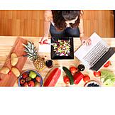 Healthy Diet, Laptop, Online