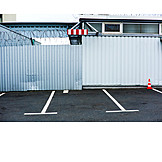 Barrier, Warehouse, Corrugated iron