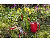 Garden, Flower bed, Garden tool