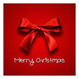 Christmas, Bow, Merry Christmas