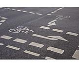 Bike lane, Road markings