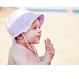 Kleinkind, Mädchen, Mütze, Sonnenschutz