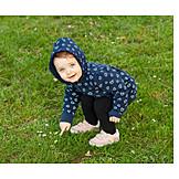Kleinkind, Wiese, Zeigen, Entdecken