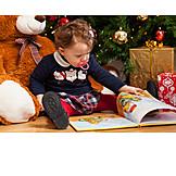 Kleinkind, Weihnachten, Ansehen, Bilderbuch