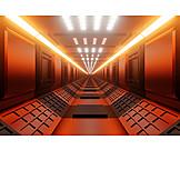 Centered, Corridor, Spaceship