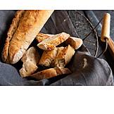 Baguette, White bread, Bread basket, Crust