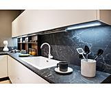 Marble, Built in kitchen, Sink