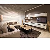 Modern, Sofa, Television, Living room