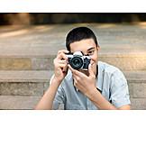 Teenager, Photograph, Photo Camera