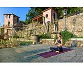 Meditating, Yoga, Serenity