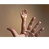 Hand, Doll hand